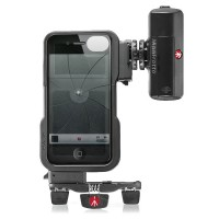Manfrotto iPhone 44s case 12 LED + tripod