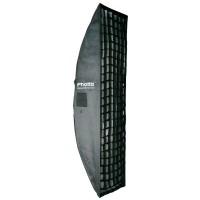 Phottix 2-in-1 Strip Softbox with Grid 40x180cm