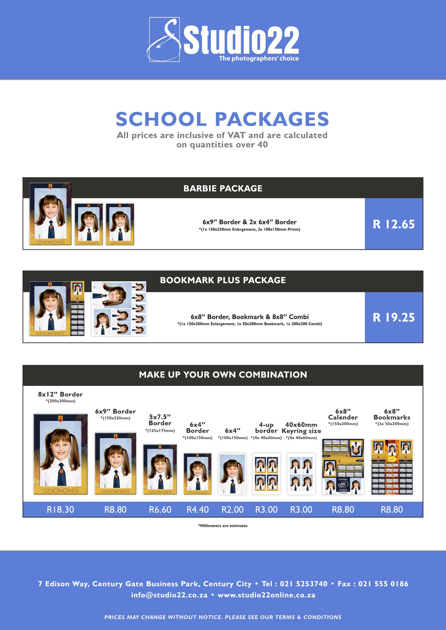 School Packages Studio22online
