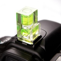 Phottix Hot Shoe Mount Double Axis Bubble Spirit Level