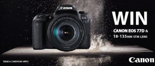 Win a Canon 77D Digital Camera plus 18-135mm lens this August