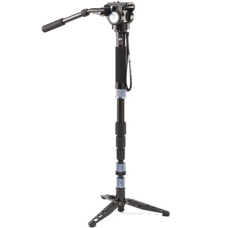 Sirui P-204S 4 Section Monopod with Feet + VA5 Head