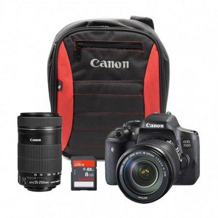 Canon 750D+18-55mm IS STM+EFS 55-250mm IS STM (Reach Bundle)