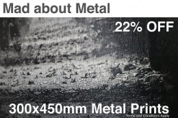<b>22% OFF METAL PRINTS</b>