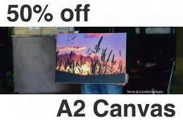 <b>50% OFF A2 CANVAS</b>